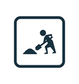 construction works icon Rounded squares button vector image