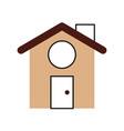 cute house with chimney vector image vector image