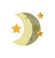 cute moon with stars in the night space vector image