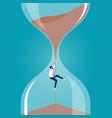 deadline concept-time management problem vector image vector image