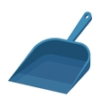 Dustpan icon in cartoon style isolated on white vector image