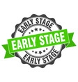 early stage stamp sign seal vector image vector image