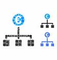 euro cash flow composition icon circles vector image vector image
