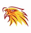 fire eagle phoenix falcon hawk flame line logo vector image