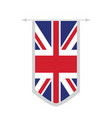 flag of the united kingdom on a banner vector image vector image