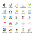 flat icons pack of success and opportunitie vector image