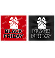gift box icons black friday in black and red color vector image vector image