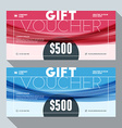 Gift Voucher Design Print Template Discount Card vector image