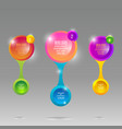 glass rounds info-graphic with colorful labels vector image