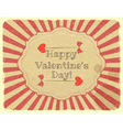 Grunge Design Valentines Day Card vector image vector image