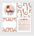 hand made merry christmas greeting cards vector image vector image