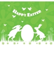 Happy easter colorful postcard background vector image vector image