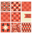 Heart pattern background vector image