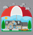 house and car protection concept vector image