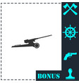 howitzer icon flat vector image