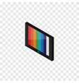 isolated wall tv isometric television vector image