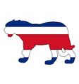Jaguar Costa Rica vector image vector image