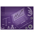 laptop and scales of justice vector image vector image