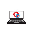 laptop service vector image