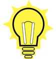 lit light bulb isolated on white vector image
