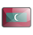 maldives flag on white background vector image vector image