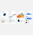 mobile app smartphone application dashboard vector image vector image
