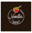 noodles logo round linear logo chinese food vector image