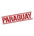 paraguay red square stamp vector image vector image