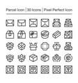 parcel icon vector image