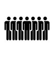 people icon group of men team person symbol sign vector image