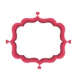 pink love frame vector image vector image