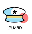 police hat icon fir guard on white background vector image