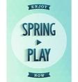 Poster design - spring started vector image vector image