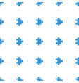 puzzle icon pattern seamless white background vector image vector image