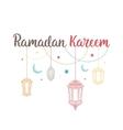 Ramadan Kareem theme vector image vector image