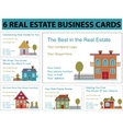 real estate business cards vector image vector image