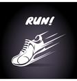 Run poster design vector image