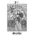 scytarot card from lenormand gothic vector image vector image