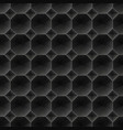 seamless black diamond 3d pattern vector image vector image