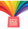 sensation sale fashion collections rainbow shoppin vector image vector image