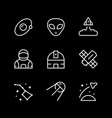 set line icons space vector image vector image