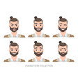 set of emotions for business man vector image