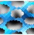 Sky pattern in pixel style vector image vector image