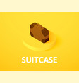 suitcase isometric icon isolated on color vector image vector image