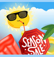 summer sale concept summer travel banner concept vector image vector image