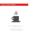 tea icon for web business finance and vector image vector image