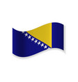 the flag of bosnia and herzegovina vector image