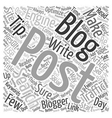 Tips for Bloggers text background wordcloud vector image vector image