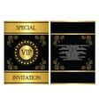 vip invitation card template vector image vector image