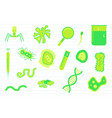 virus science education with various objects and vector image